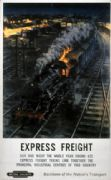 Express Freight, British Railways Railway Travel Poster